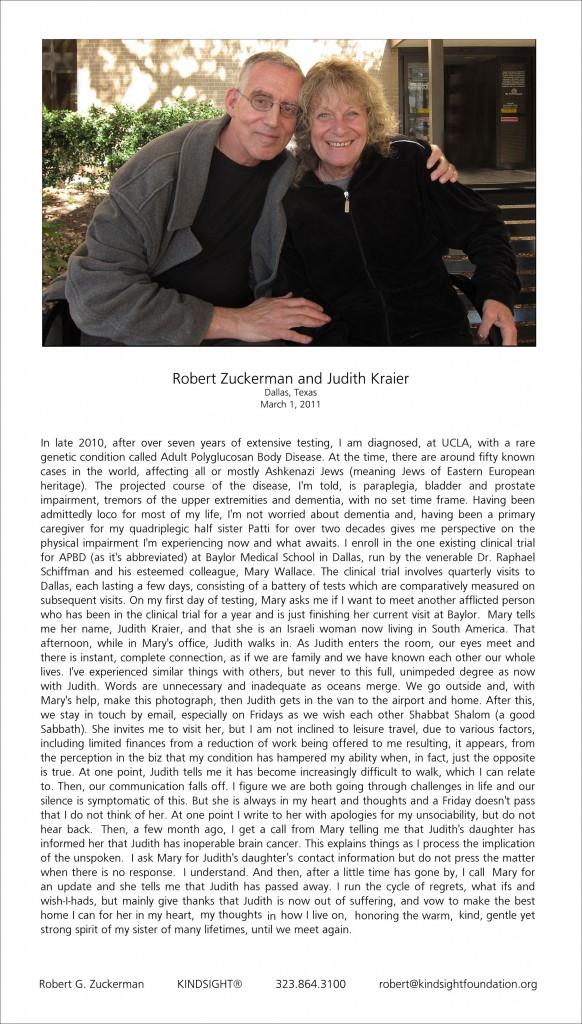 Kindsight2 Robert Zuckerman and Judith Kraier Dallas March 2011 ps lps aaa